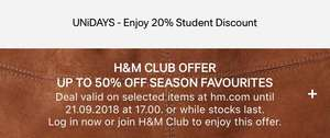 H&M Club Members get exclusive discount. up to 50%