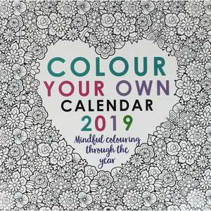 Colour Your Own 2019 Wall Calendar £2 C+C @ The Works