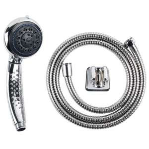 Multi-Function Shower Head and Hose 50p - B&M
