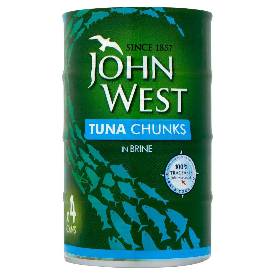 John West Tuna Chunks in Brine 4 x 145g @ Iceland - £3