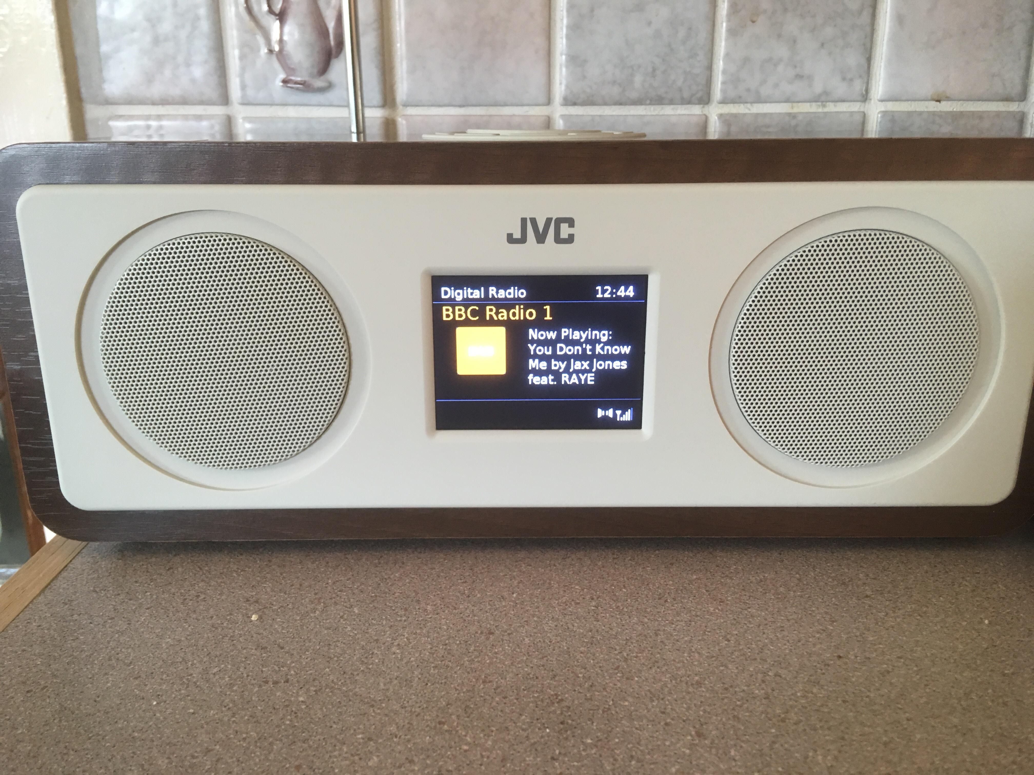 JVC RA-D77M DAB+/FM Bluetooth Radio - Wood & Cream - £39.99 @ Currys