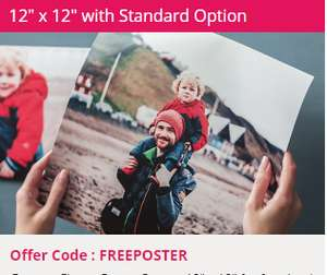 """""""Free"""" 12""""x12"""" square poster from Photobox - £2.99 delivery"""