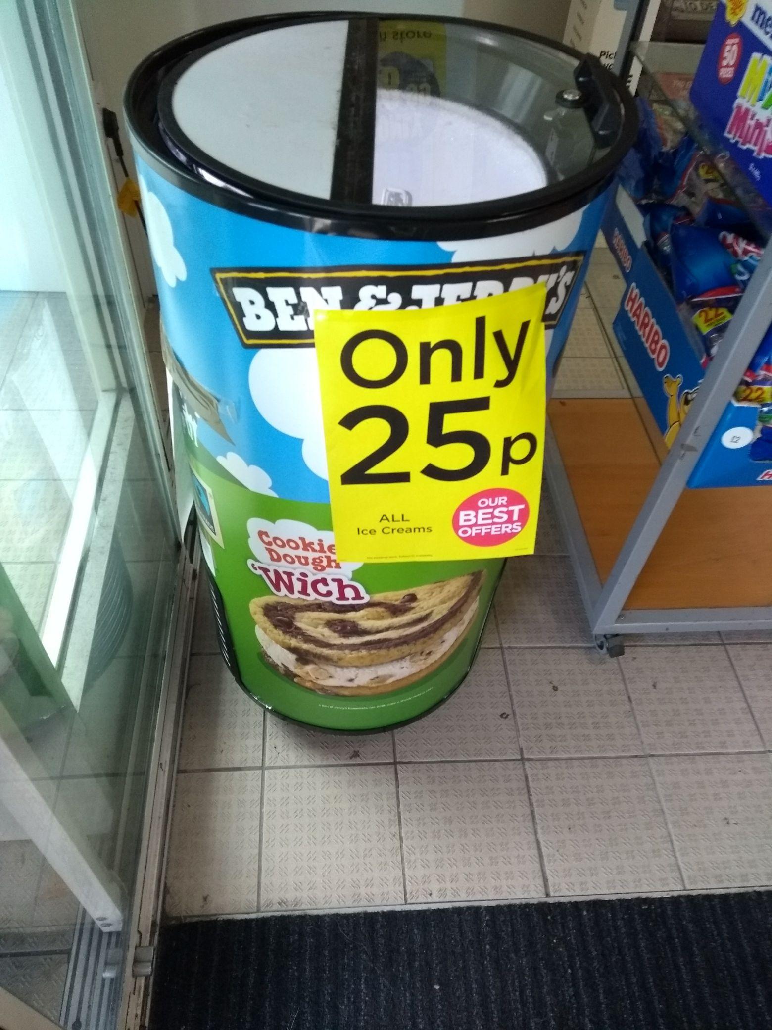 WHSmith Altrincham all ice creams 25p