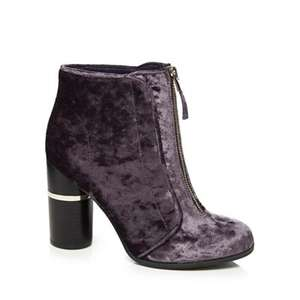 Upto 70% Off Shoes & Boots - Call It Spring Dark purple velvet 'Kalivas' ankle boots (was £70) Now £21 C&C at Debenhams