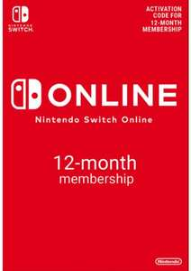 Nintendo Switch Online 12 Month Membership £16.49 / £15.67 with FB code