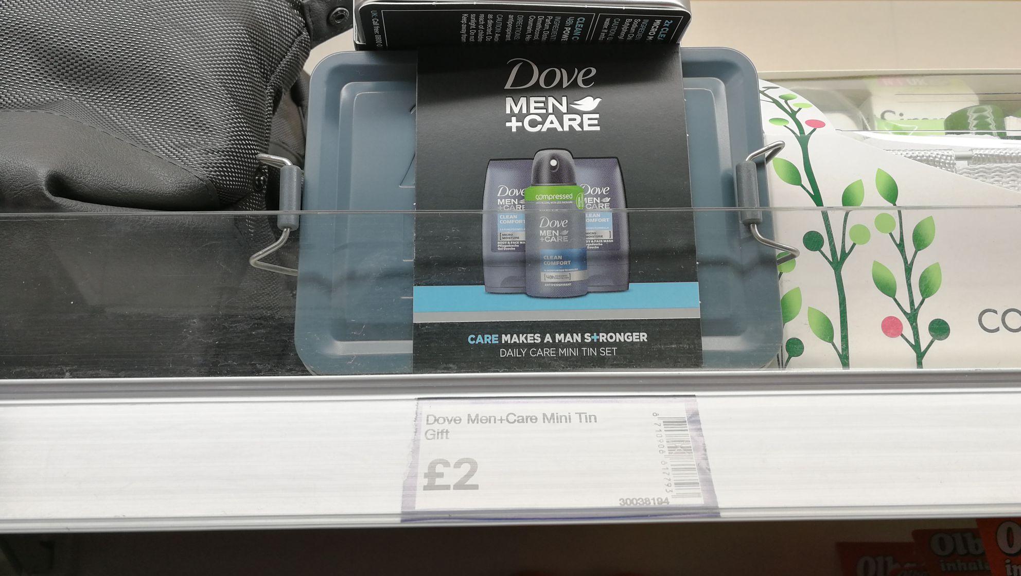 Dove men care mini tin gift set £2 @ Boyes