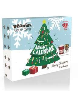 Beanies flavoured coffee advent calendar with 2 sachets per day, full size jar of coffee and travel mug £20 delivered @ Beanies