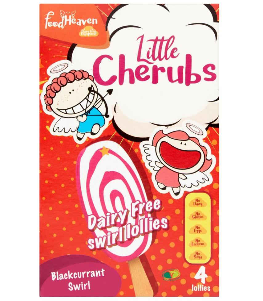 Food Heaven Little Cherubs 4 Dairy Free  & Gluten Free Swirl Blackcurrant Ice Cream / Lolly Now £2.00 at Asda