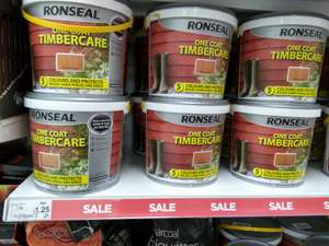 Ronseal One Coat Timbercare 5 Litres £1.25 instore at Asda
