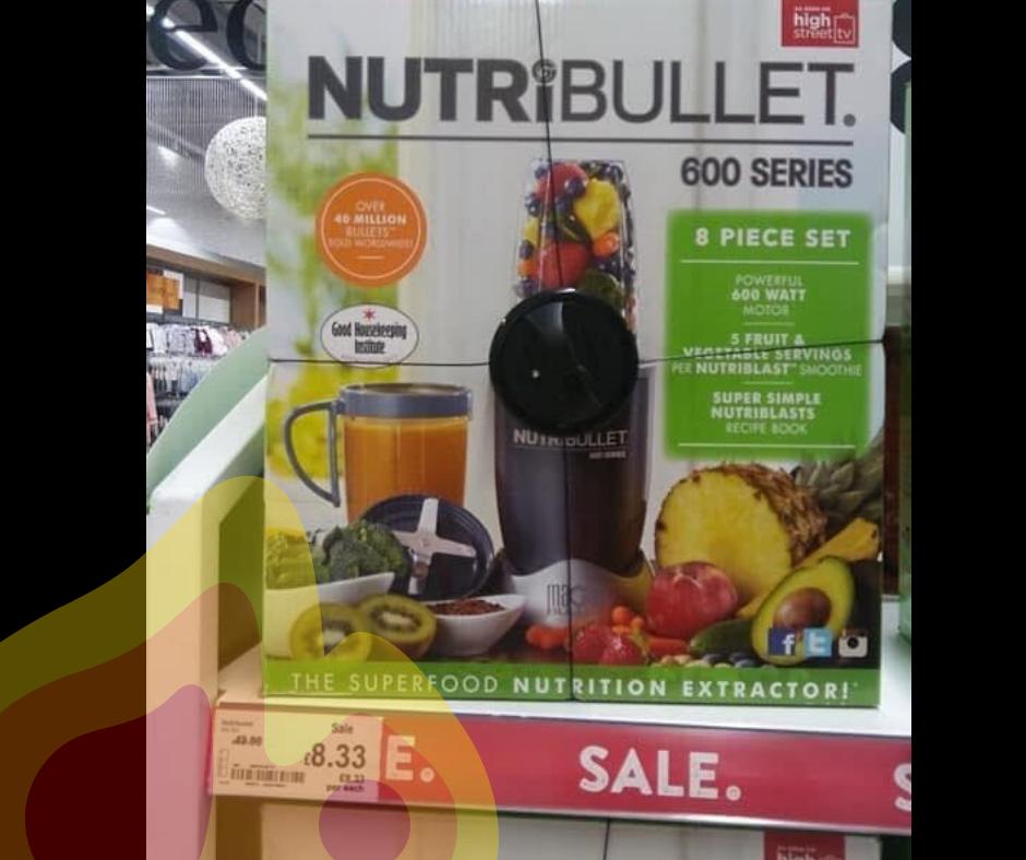NutriBullet 600 Series £8.33 instore at Asda Bargain Price