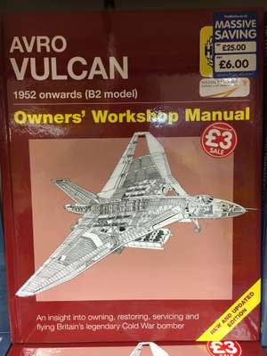 Haynes Vulcan Manual at The Works for £3 instore