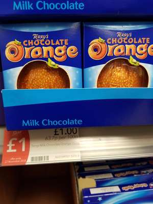 Terry's Chocolate Orange £1 in store at the co-op