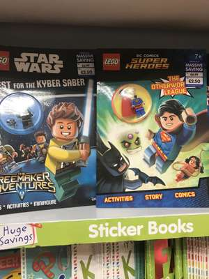 Star Wars and Superman LEGO books with free minifigure - £2.50 instore @ The Works