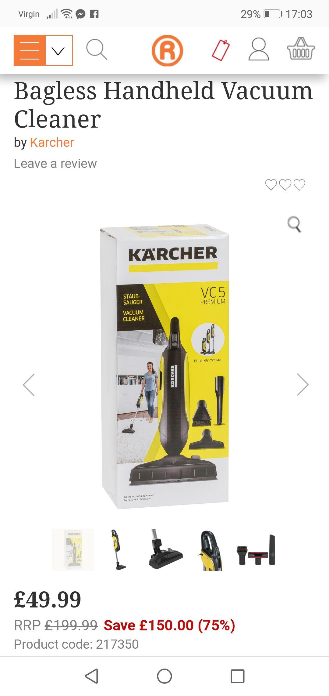 Katcher bagless hoover/vacum cleaner (Instore only) - £49.99 @ The Range