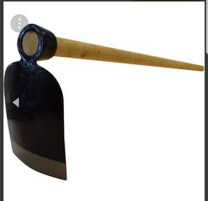 Garden Digging Hoe with Full Length 120cm Wooden Handle - £9.99 / £12.98 Delivered @ RINKIT
