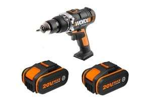 Buy 2x WORX 20v 4Ah Li-ion batteries for £99.99 (normally £69.99 each) and get a WORX WX372 heavy duty (50nm) combi drill (with hammer action), case and charger thrown in free! 3 Year warranty too. @ positecworx eBay