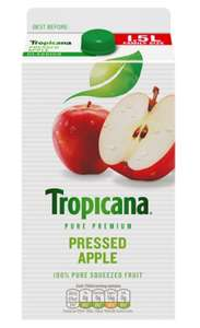 Tropicana Pure Premium Pressed Apple Juice 1.5 Litre £1.00 @ Heron Frozen Foods