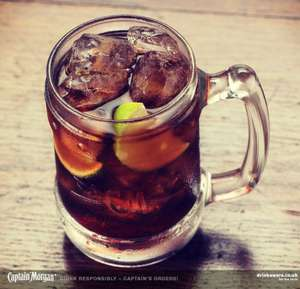 Free Captain Morgan & cola (Facebook messenger)