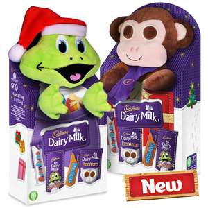 freddo or monkey soft toy with cadbury chocolate £4 each at the co op