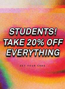 20% student discount at topman and topshop with studentbeans / unidays
