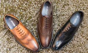 Redfoot men's leather brogues £19.98 + £1.99 delivery at Groupon
