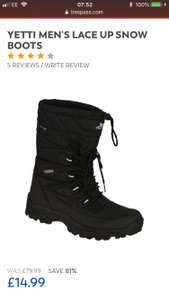 Men's Trespass Yetti Boots £19.99 at Trespass (free c&c / £2.95 delivery)