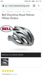 Bell cycling helmet £24.99 from Rutland Cycling