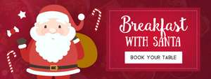 Book Breakfast With Santa  - Cooked Breakfast + Drink + Santa Gift for £4.99 at Toby Carvery