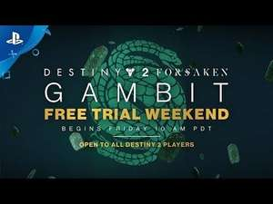Destiny 2 Forsaken, Gambit Is Free This Weekend Sept. 21-23