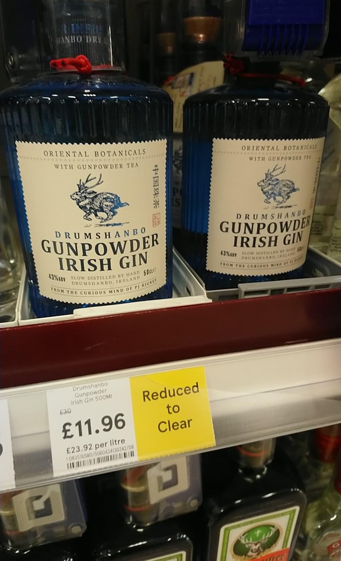 DRUMSHANBO GUNPOWDER  IRISH Gin £11.96 at Tesco in store. Uddingston, Glasgow.