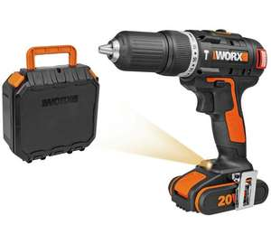 WORX Powershare 20vMAX BRUSHLESS cordless hammer drill with Li-ion battery, fast charger and case. Was £89.99, then £57.99, now down to £49.99 on clearance at Argos ebay store. 3 year guarantee too!