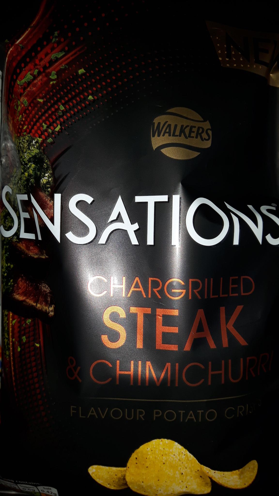 Walkers Sensations Chargrilled Steak & Chimichuri 150g 60p at Heron Foods