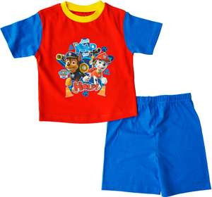 Paw Patrol Pyjamas Shortie 100% Cotton PJ Ages12 Months To 4 Years £2.95 delivered @ laylawson ebay