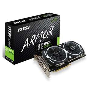 MSI NVIDIA GeForce GTX 1070 Ti 8GB ARMOR Graphics Card - £388.99 / £394.47 Delivered @ Scan.co.uk