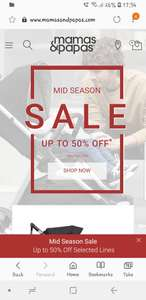 Mamas and papas end of season sale many items 50% off @mamas and papas online and instores