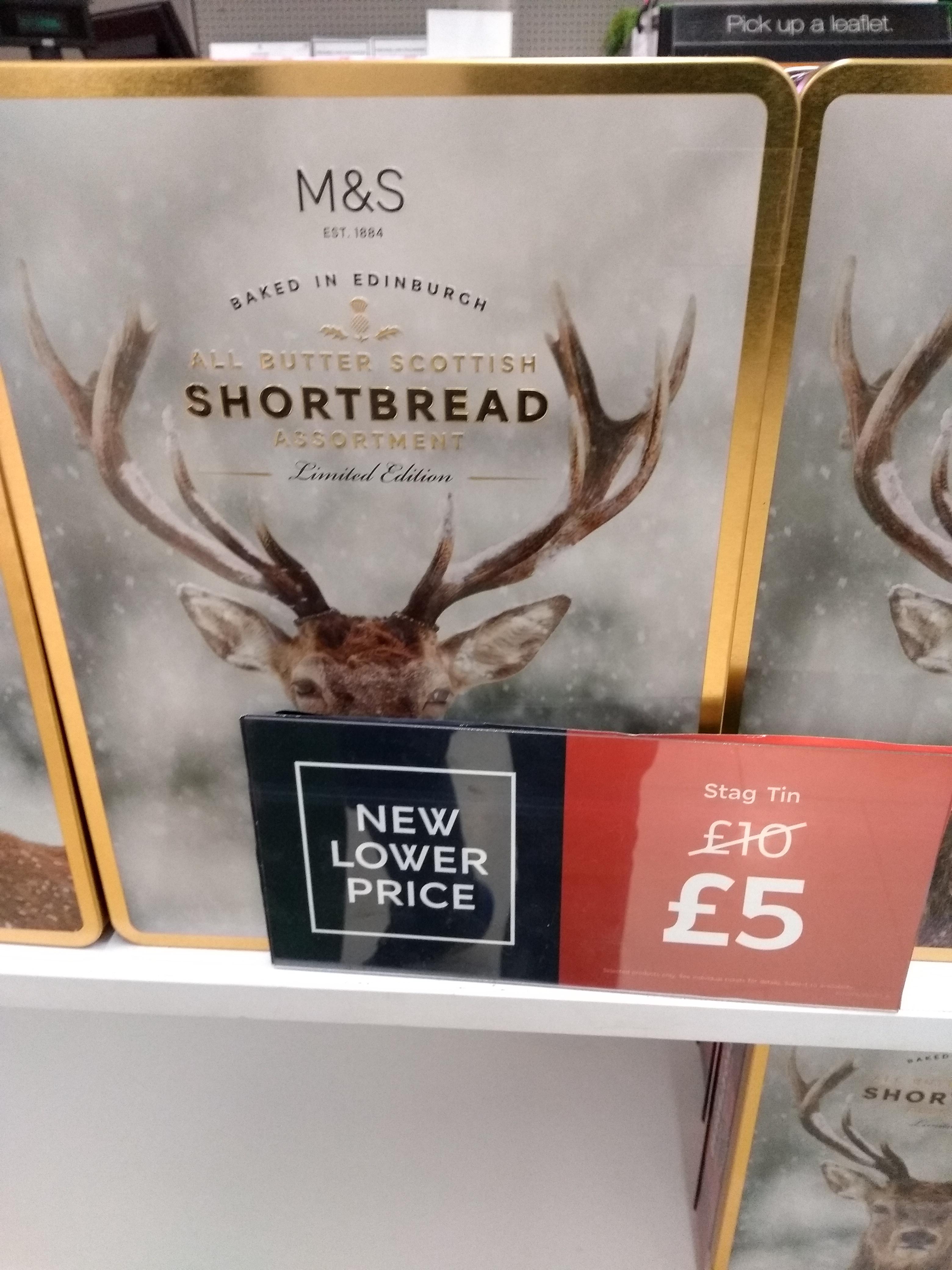 M&S shortbread tins £5 instore