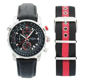 Rotary Men's Chronograph Interchangeable Strap Watch - Manufacturer's 2 year guarantee £59.99 @ Argos