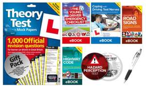 The Learner Driver Gift Pack: Theory Test Papers, Driving Test PC/DVD with Hazard Perception Test and Three eBooks groupon deals £7.99 +1.99 delivery
