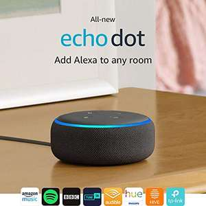 3rd Gen amazon Alexa echo dot 49.99 or buy two save £10. Interest free pay monthly @ Amazon
