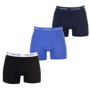 Calvin Klein 3 pack trunks £20 + free £5 voucher when you c&c at USC