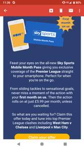 FREE Sky Sports Mobile Month Pass via Now TV (Possibly email/account specific)