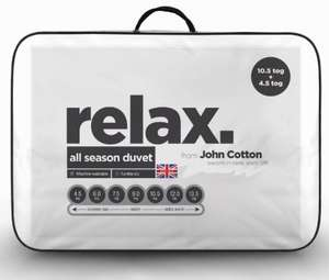 John Cotton 3 in 1 15 tog all season combi duvets 4.5 tog + 10.5 tog clip together £10 single, £11 double & £12 single delivered @ Sleepseekers