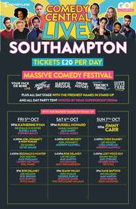 Comedy Central Live Prices slashed, now £20 for the entire day! VIP tickets down from £150 to £40!!! @ Ticketline
