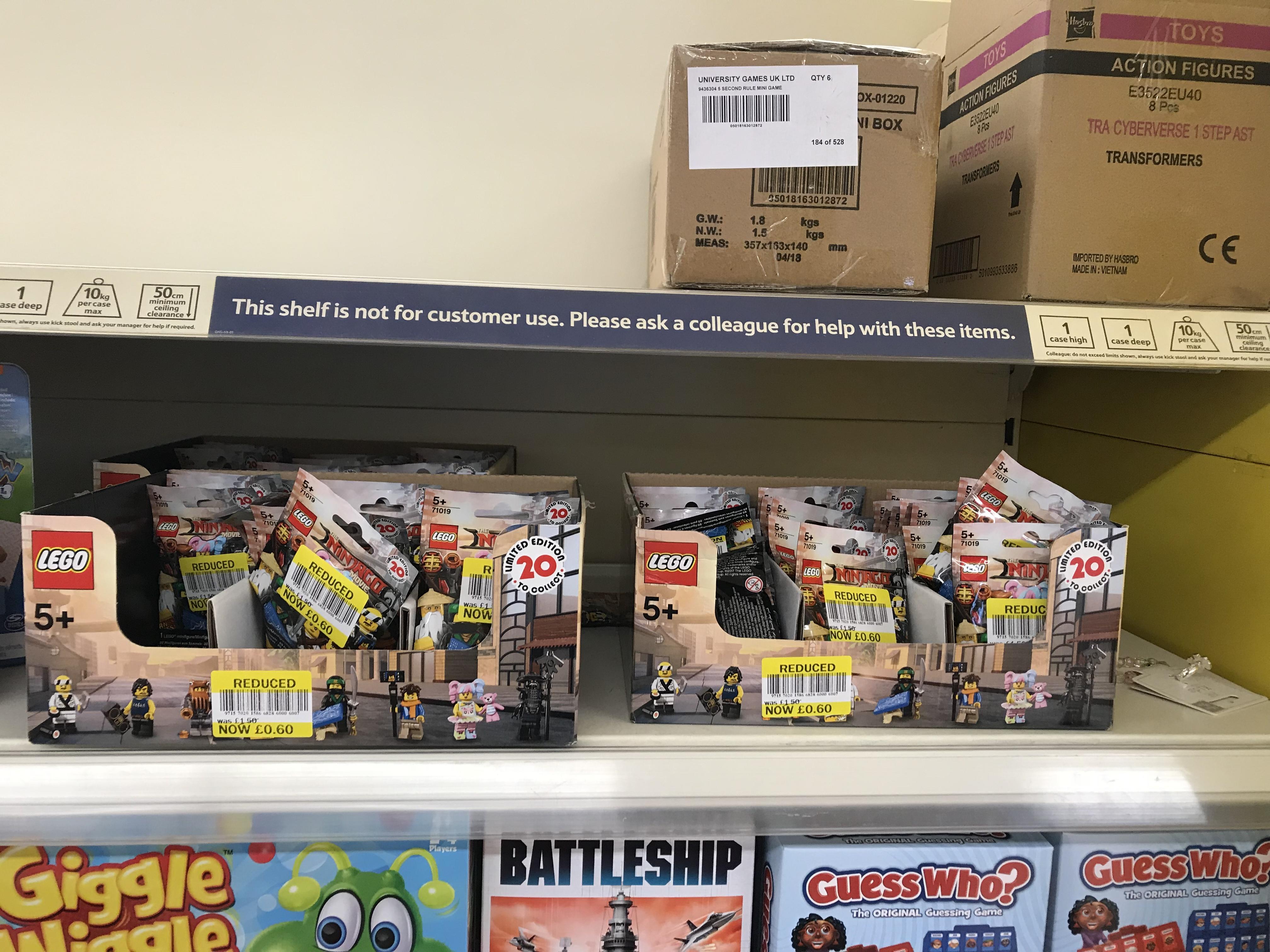 Lego Ninjago Movie Collectible Minifigures - 60p instore @ Tesco (Stoke)
