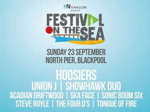 2 adult tickets £10 @ Festival by the sea @ Planet Radio