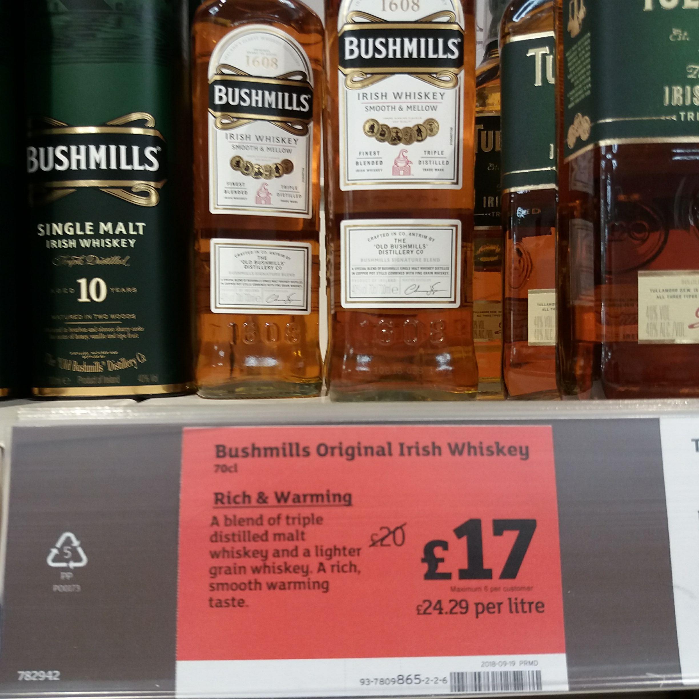 Bushmills original  £17 @ Sainsburys