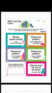 """First Bus """"Safe Journey"""" & """"Better Journey"""" cards"""