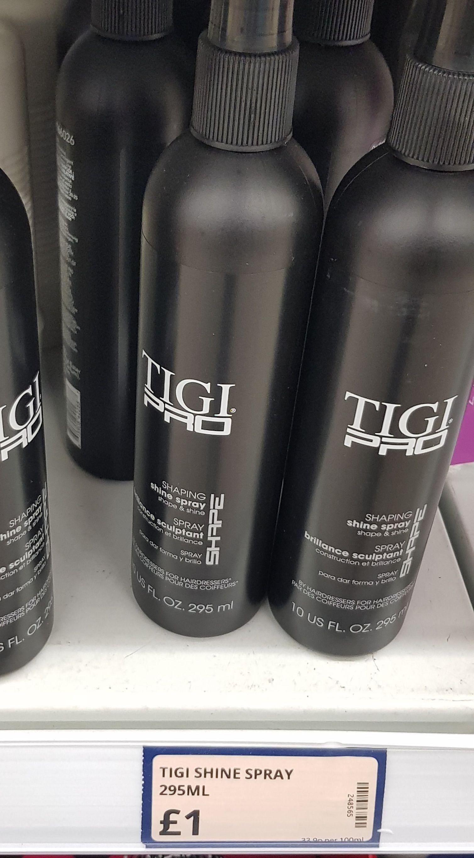 Tigi Pro shaping shine spray £1 @Poundstretcher (in store - Keighley)