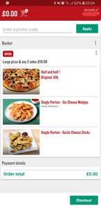 *PRICE GLITCH* Free Pizza @ Papa Johns (via Android Mobile App)
