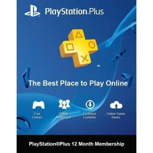 Playstation Plus 12 Months Subscription | PS+ - £35.50 @ Instant Gaming